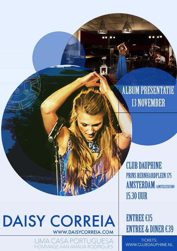 Flyer Album presentatie Daisy Correia