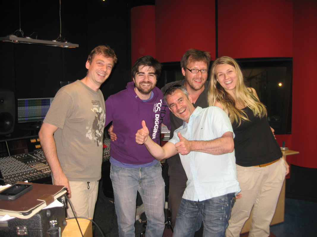 2013-07-09 Mark de Jong, Tiago Machado, Paul Pouwer, Marko Bonarius, Daisy