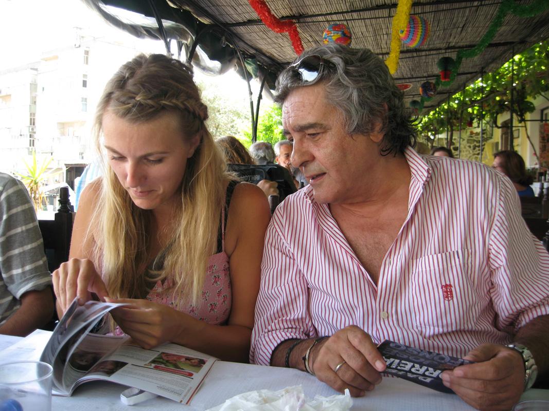 2012-08-21 Lissabon dineren met José Luis Gordo dichter van vele beroemde fado's